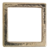 Metal 19mm Square Frame With 2 Hole Shiny Gold